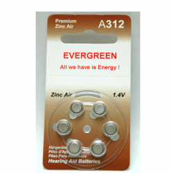 A312 Hearing Aid Battery